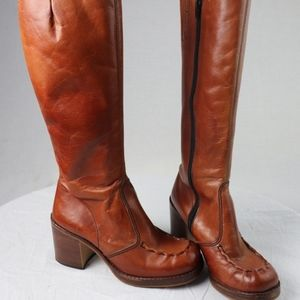 Shoes - Vintage Spanish Leather Brown Boots